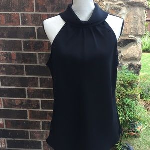 W by Worth Black Sleeveless Top Sz 14